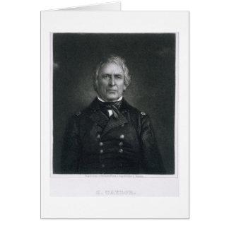 Zachary Taylor, graviert nach einem Daguerrotype Karte