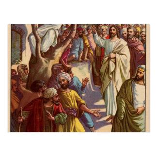 Zacheus sieht Jesus Postkarte