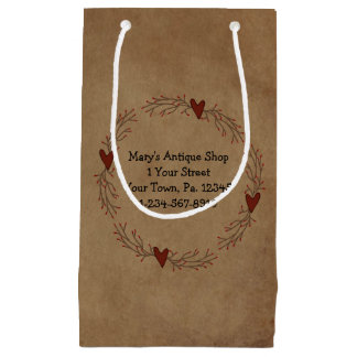 Zacken-Beeren-Herz-Kreis-Geschenk-Tasche Kleine Geschenktüte