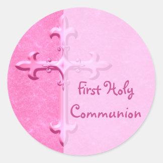 Zacken Sie ersten heilige Kommunions-Aufkleber aus