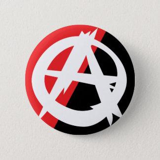 Zackiger Anarchie-Symbol-Knopf Runder Button 5,7 Cm