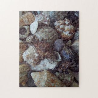 Zackiges Fotopuzzlespiel, das Seeoberteile kennzei Foto Puzzle