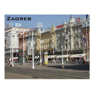 Zagreb Postkarte