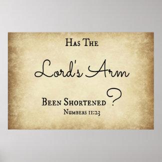 Zahl-Bibel-Vers hat Arm des Lords Poster
