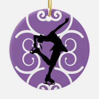 Zahl die Skater-Verzierung - lila - Keramik Ornament