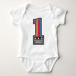 Zahl eine Armenien Baby Strampler