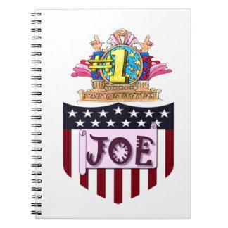 Zahl eine Joe Notizblock