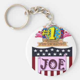 Zahl eine Joe Schlüsselanhänger