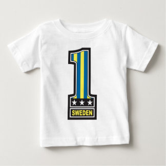 Zahl eine Schweden Baby T-shirt