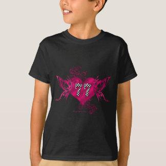 Zahl mit 77 Rennwagen T-Shirt