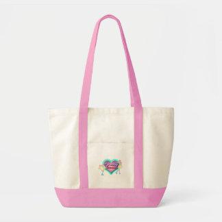 Zahl Skaten-Großmutter-Taschen-Tasche - Pastelle Impulse Stoffbeutel