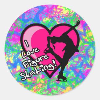 Zahl Skater - bunte Stern-großer Aufkleber