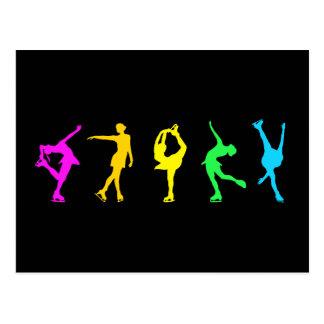 Zahl Skater-Pastell-Regenbogen Postkarte