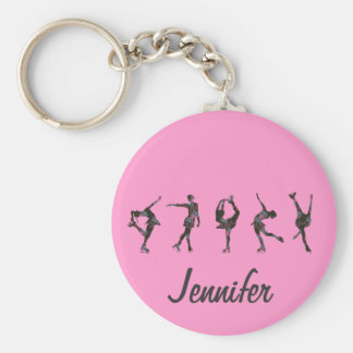 Zahl Skater, Rosa, Grau personifizieren Schlüsselanhänger