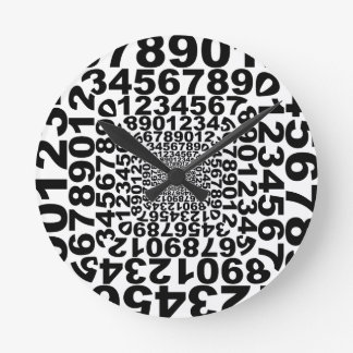 Zahl-Turbulenz, Strudel zählend, Mathe Runde Wanduhr