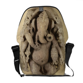 Zahl von Ganapati, Chandella Dynastie (Sandstein) Kurier Tasche