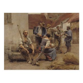 Zahlen der Erntemaschinen, 1882 Postkarte