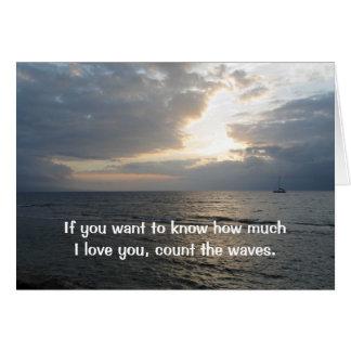 Zählen Sie die Liebe der Wellen-I, die Sie Grußkarte
