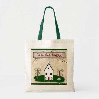 Zählen Sie Ihre Segen-Kirchen-Tasche Budget Stoffbeutel