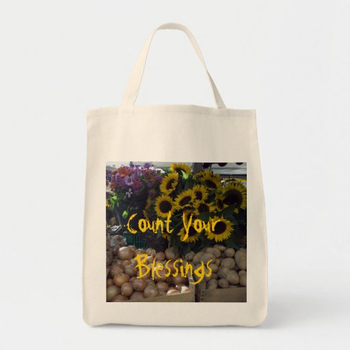 Zählen Sie Ihre Segen-Lebensmittelgeschäft-Tasche