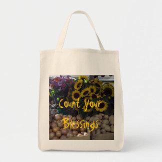 Zählen Sie Ihre Segen-Lebensmittelgeschäft-Tasche Einkaufstasche
