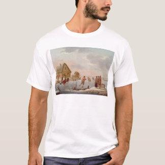 Zahlen Skaten in einer Winter-Landschaft T-Shirt