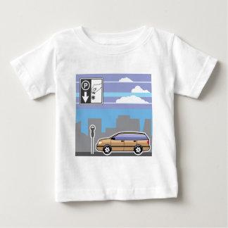 Zahlender Parkuhrauto Vektor Baby T-shirt