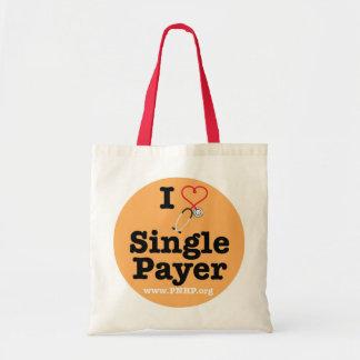 Zahler-Tasche des Single-I <3 Budget Stoffbeutel