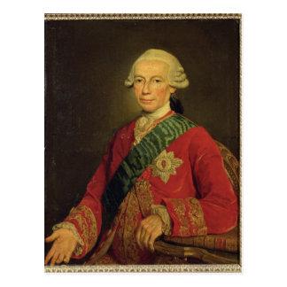 Zählung Claude-Louis-Robert de Heilig-Germain 1777 Postkarte