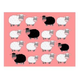 Zählung der Schafe Postkarte