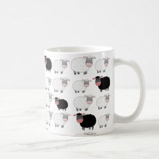 Zählung der Schafe Kaffeetassen