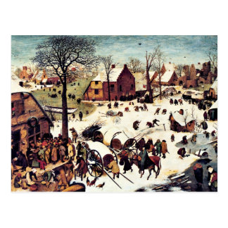 Zählung in Bethlehem Postkarte