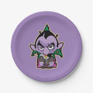 Zählung von Count Zombie Pappteller