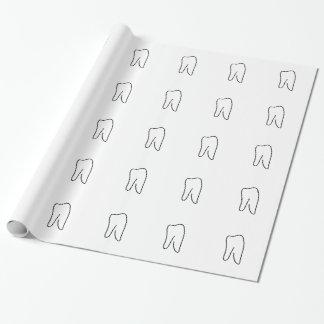 Zahn Backenzahn Zahnarzt Karies Geschenkpapier