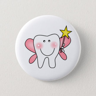 Zahn-Fee-T-Shirts und Geschenke Runder Button 5,7 Cm