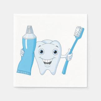 Zahn-und Zahnbürste-Papierservietten Serviette