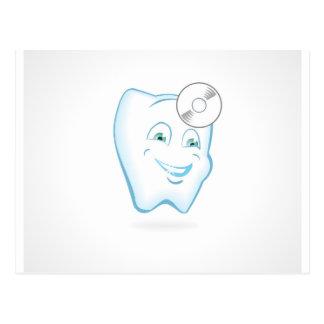Zahn-Zahnarzt Postkarte