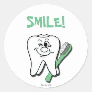 Zahnarzt-Aufkleber Runder Aufkleber
