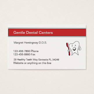 Zahnarzt-Büro-Verabredung Visitenkarte