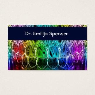Zahnarzt Colorul Zahn-Visitenkarte Visitenkarte