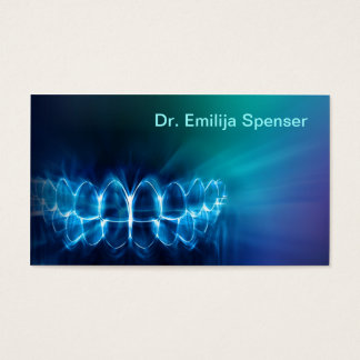 Zahnarzt, der blaue Zahn-Lächeln-Visitenkarte Visitenkarten