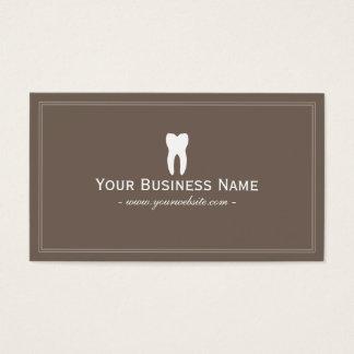 Zahnarzt einfaches einfaches Brown zahnmedizinisch Visitenkarten