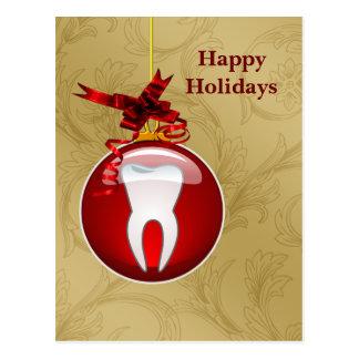 Zahnarzt-Feiertags-Karten Postkarte