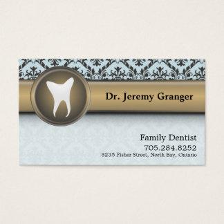 Zahnarzt-Geschäfts-Karte - Zahn-Vintages Blau u. Visitenkarten