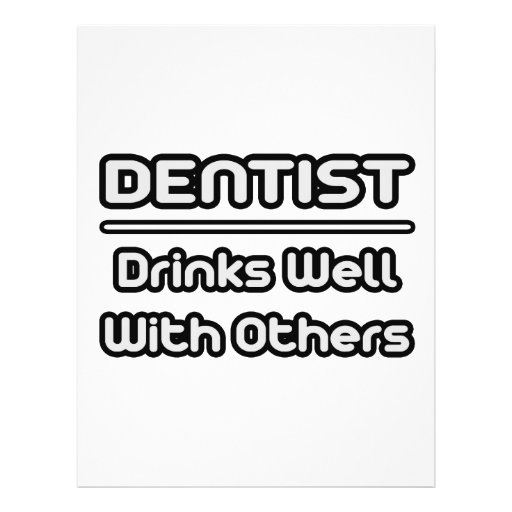 Zahnarzt-… Getränke gut mit anderen Individuelle Flyer