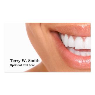 Zahnarzt-Hygieniker-Lächeln-Visitenkarten Visitenkarten