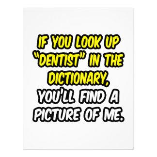 Zahnarzt im Wörterbuch… mein Bild Flyer