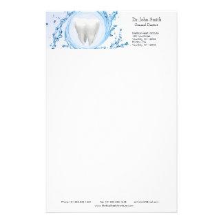 Zahnarzt-medizinischer Zahn beruflich - Briefpapier