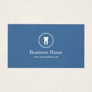 Zahnarzt-minimaler einfacher blauer Zahnpflege Visitenkarten