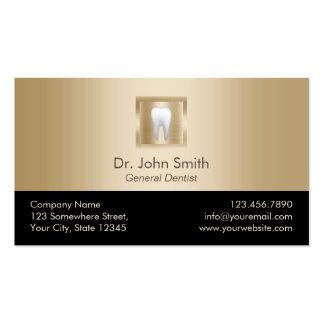 Zahnarzt-moderne Goldzahnpflege-Verabredung Visitenkarten